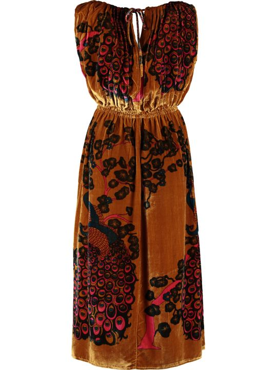 Mes Demoiselles Printed Velvet Dress