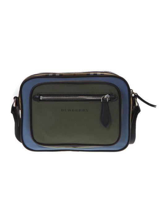 Burberry Paddy Color Block Leather Shoulder Bag