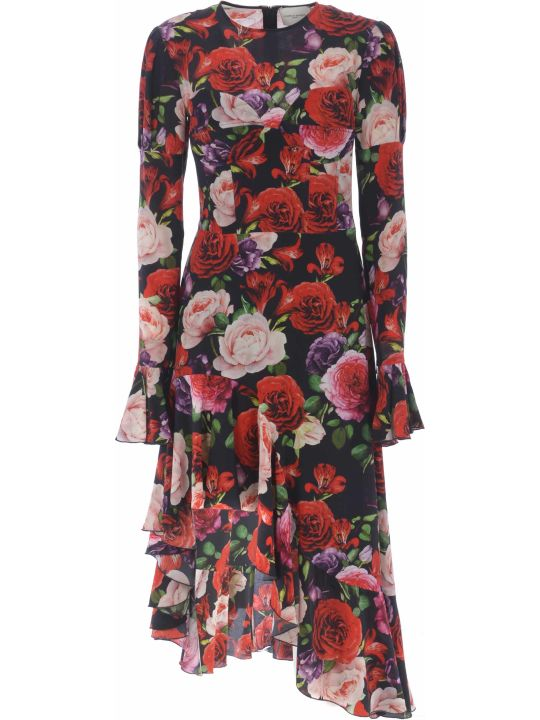 Giuseppe di Morabito Floral Asymmetric Dress