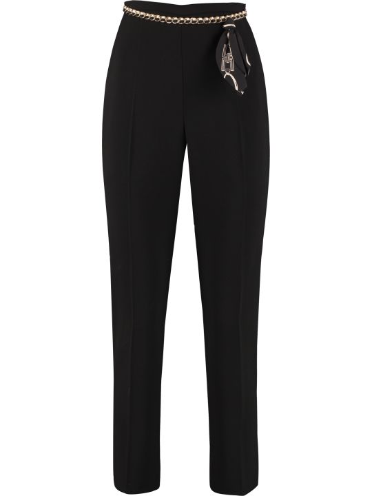 Elisabetta Franchi Celyn B. Cropped Cigarette Trousers