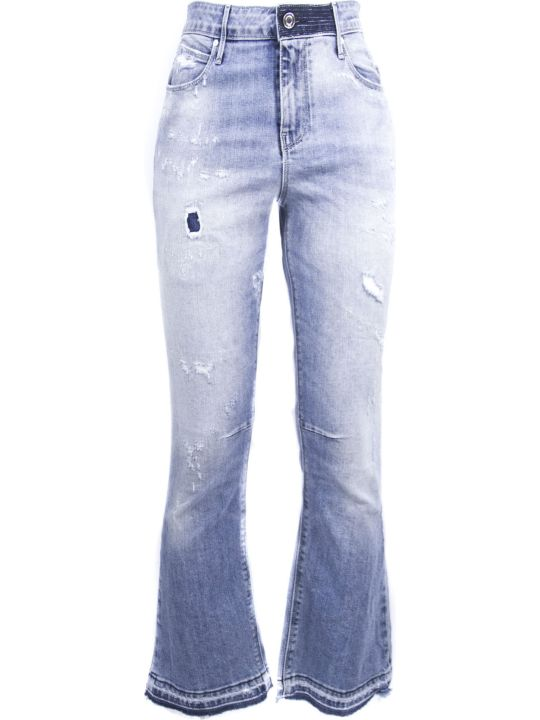 RTA Light Blue Cotton Blend Jeans