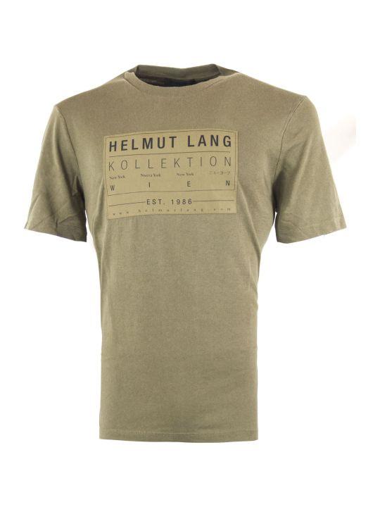 Helmut Lang Green Cotton T-shirt