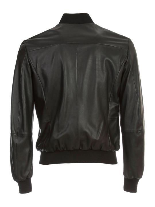 Emporio Armani Leather Bomber Jacket