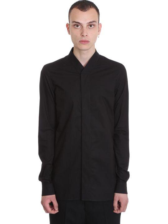 Rick Owens Faun Shirt Shirt In Black Cotton