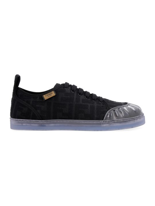 Fendi Canvas Low-top Sneakers