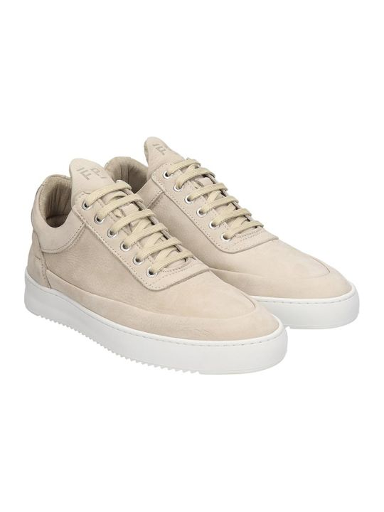 Filling Pieces Low Top Ripple  Sneakers In Beige Nubuck