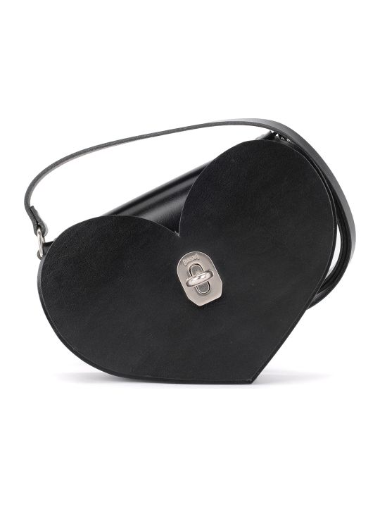 Niels Peeraer Borsa Niels Peeraer Heart Black Leather