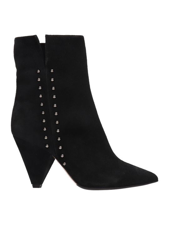 The Seller Black Suede Leather Ankle Boot