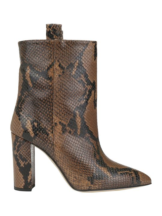 Paris Texas Snake Ankle Boots