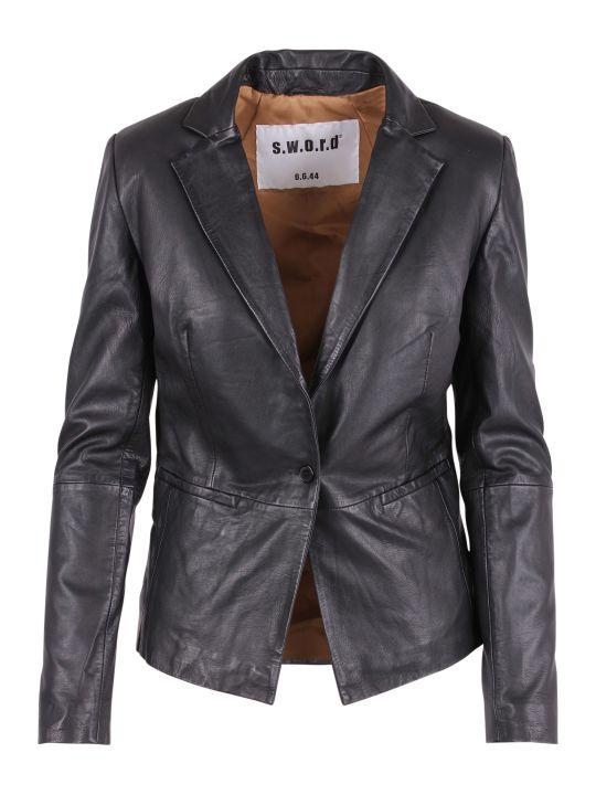 S.W.O.R.D 6.6.44 S.w.o.r.d. 6644 Leather Blazer