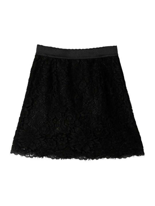 Dolce & Gabbana Black Skirt For Girls Dolce And Gabbana Kids