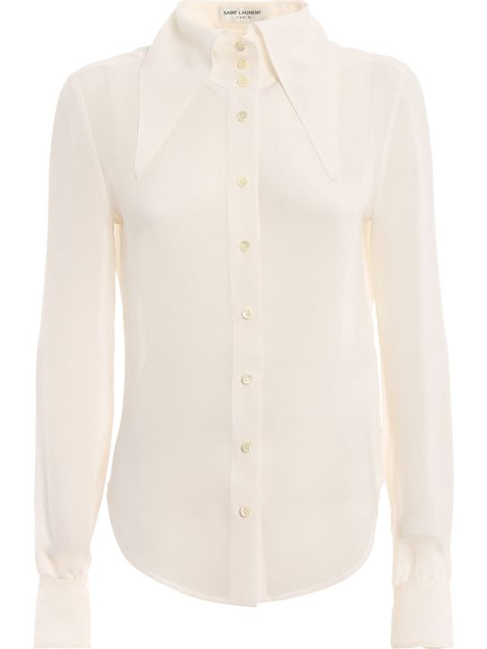 Saint Laurent Extended Wing Collar Shirt