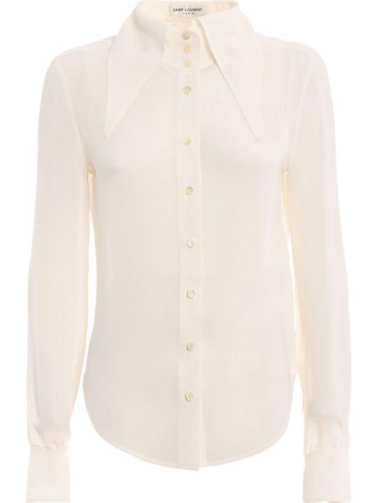 Saint Laurent Extended Wing Collar Shirt