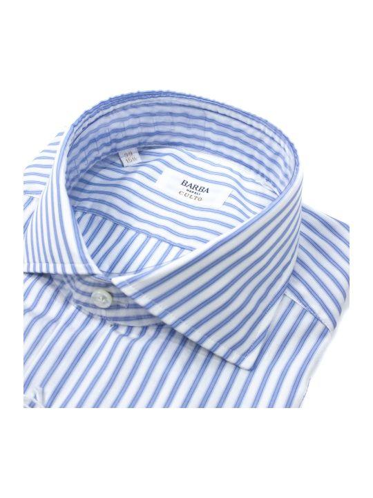 Barba Napoli White Cotton Shirt