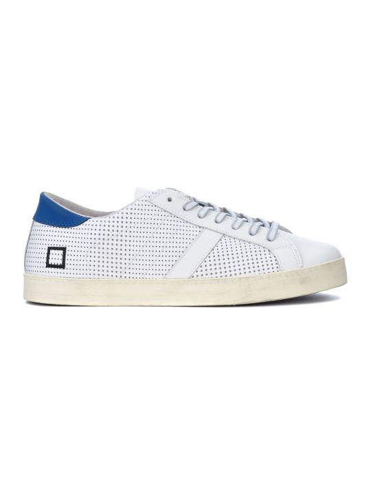 D.A.T.E. Hill Low Pop White Pierced Leather Sneaker