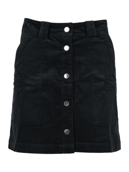 Maison Kitsuné Maison Kitsune Corduroy A-line Mini Skirt