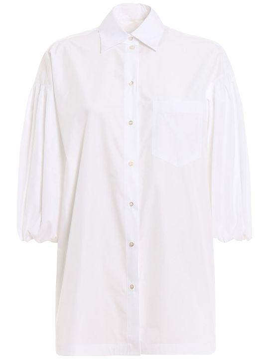 Valentino Poplin Oversized Shirt