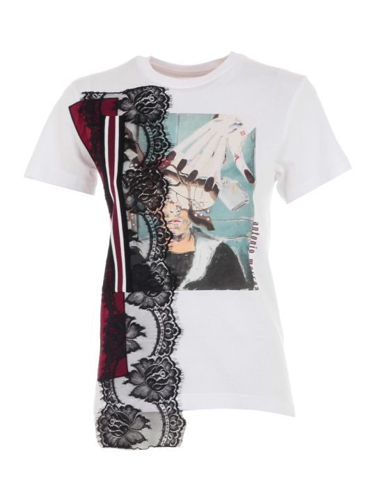 Antonio Marras T-shirt S/s Printed Insert Lace