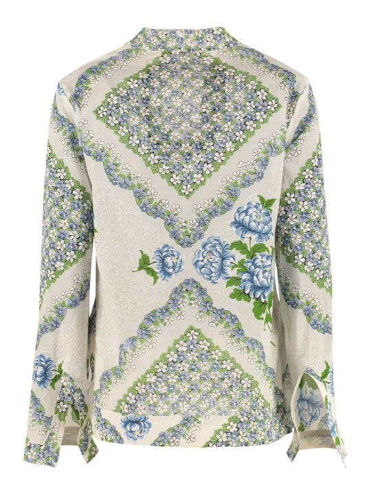 Tory Burch Printed Cotton Tunic-top