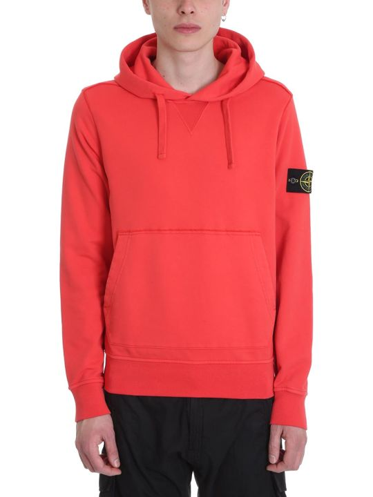 Stone Island Red Cotton Jacket