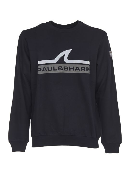 Paul&Shark Blue Crew-neck Sweatshirt