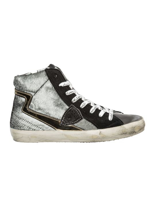 Philippe Model  Shoes High Top Leather Trainers Sneakers Paris