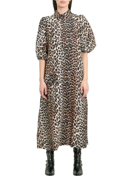 Ganni Cedar Leopard Dress