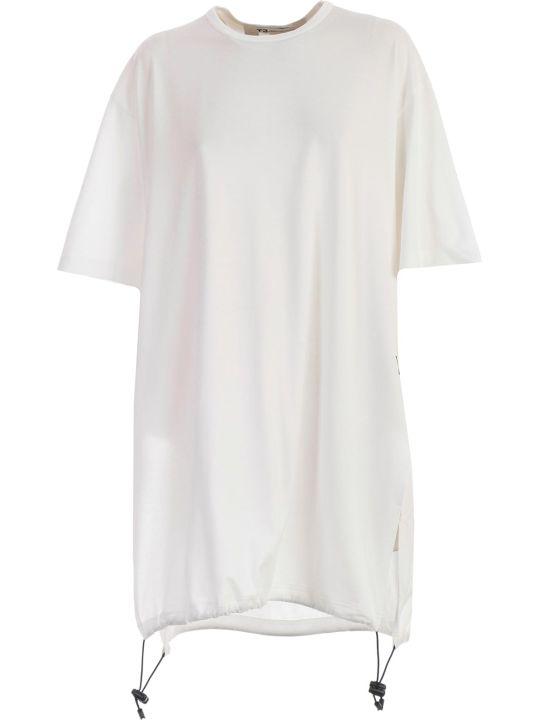 Y-3 Yohji Yamamoto Adidas Oversized Drawstrings T-shirt
