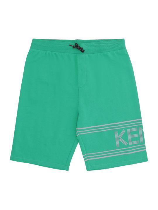 Kenzo Kids Logo Print Sweatshorts
