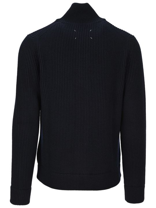 Maison Margiela Martin Margiela Zip-up Ribbed Sweater