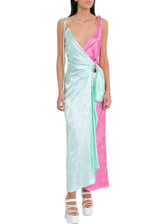 ATTICO Floral Jacquard Long Dress