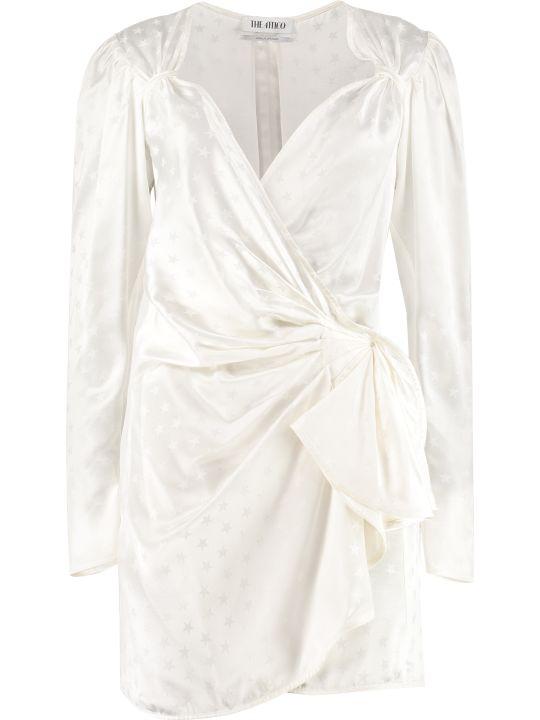 ATTICO Wrap Jacquard Dress