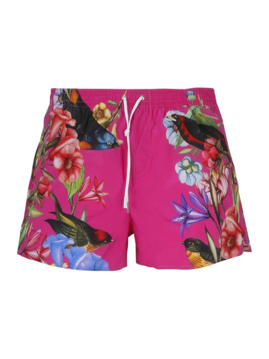 Dsquared2 Flower Print Swim Shorts