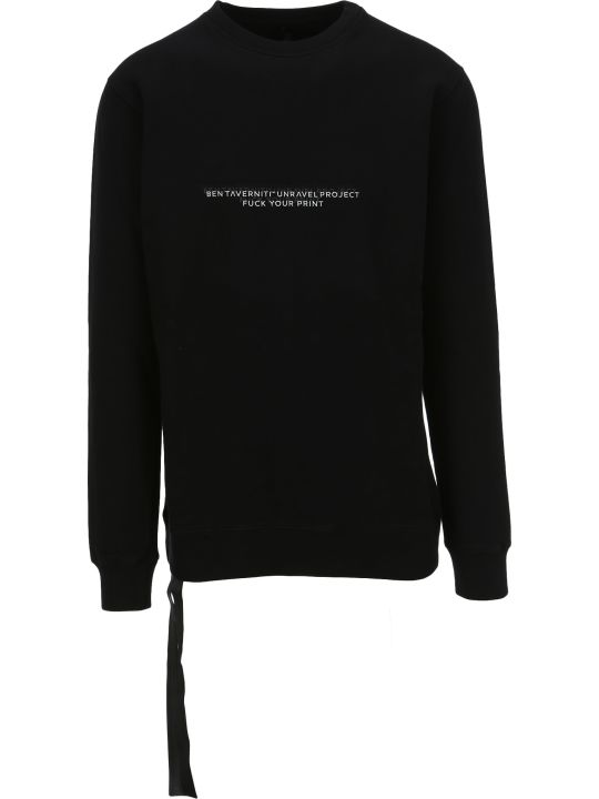 Ben Taverniti Unravel Project Unravel Slogan Print Sweatshirt