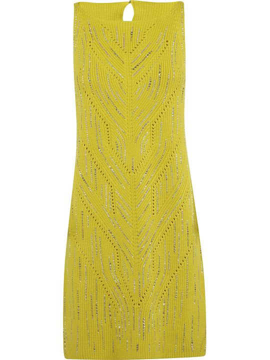 Ermanno Scervino Rib Knit Embellished Dress