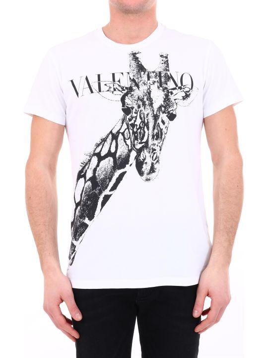 Valentino T-shirt Giraffe White