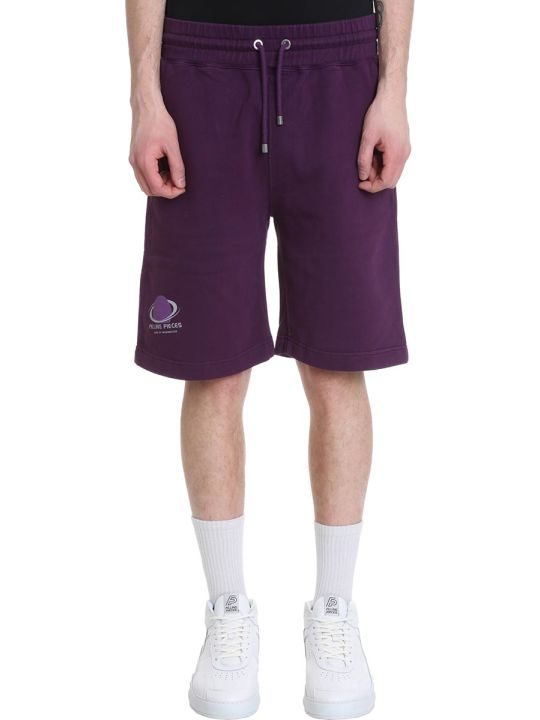 Filling Pieces Purple Cotton Shorts