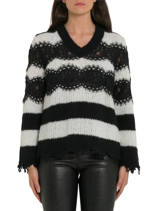Philosophy di Lorenzo Serafini Striped Sweater With Lace Inserts