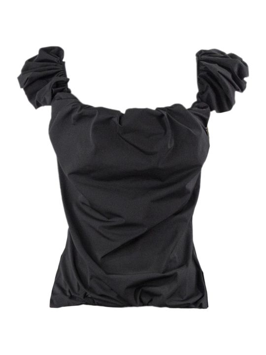 Maison Margiela Black Off Shoulder Top