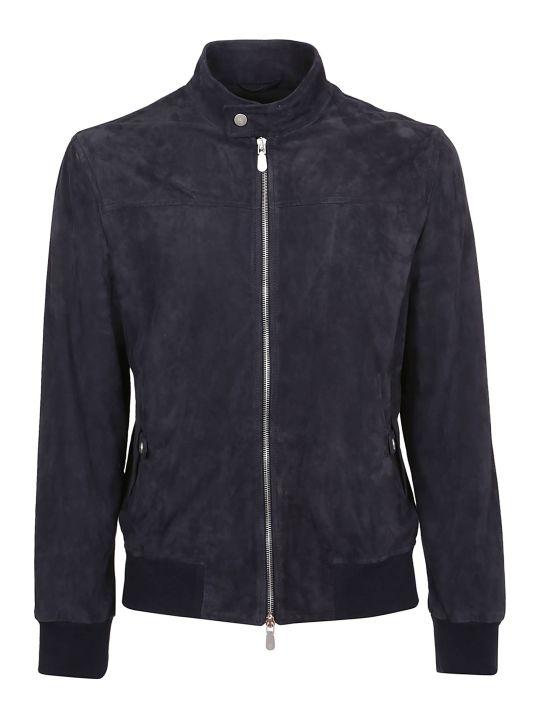 Eleventy Zip-up Leather Jacket