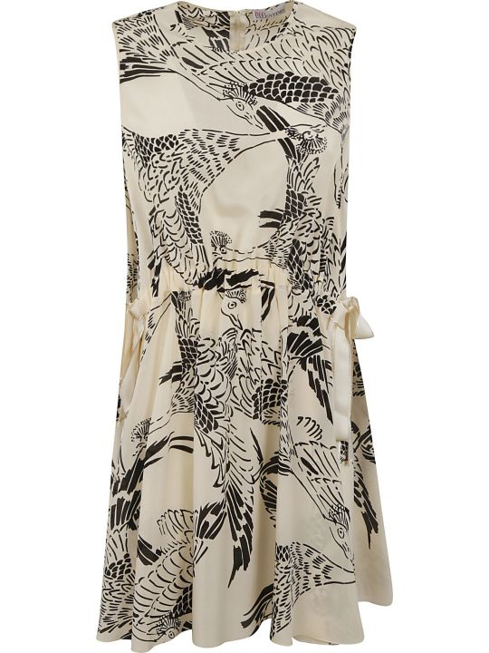 RED Valentino Animal Print Sleeveless Dress