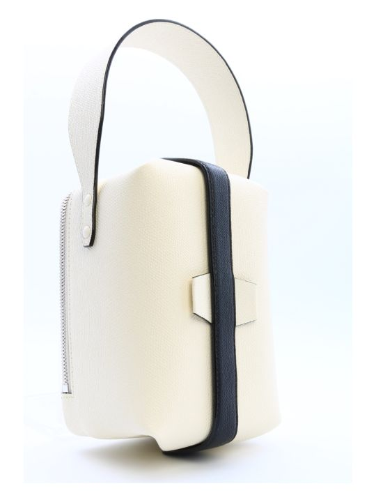 Valextra Tric Trac Bag White