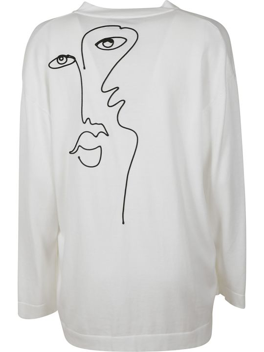 Moschino Face Print Cardigan