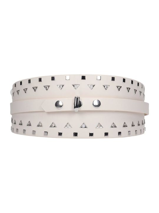 Isabel Marant Yoli Belts In White Leather
