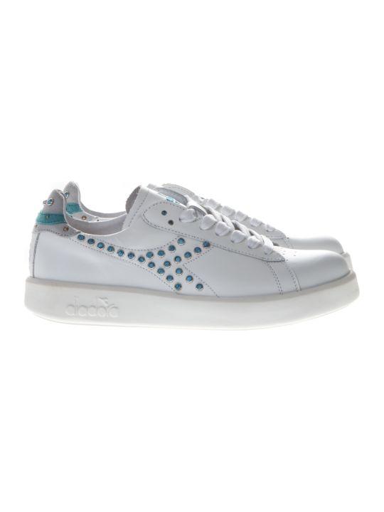 Diadora Game H Studs White Leather Sneakers