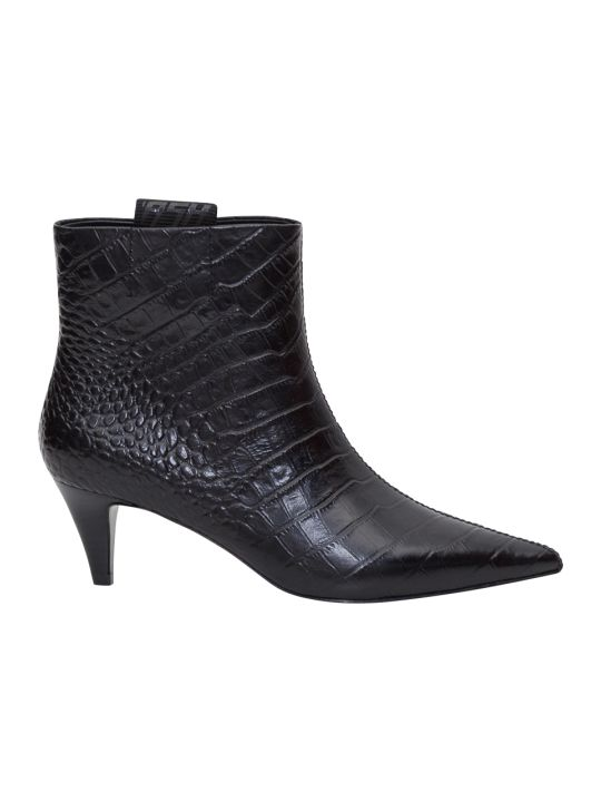 Ash Cocco Printed Leather Booties
