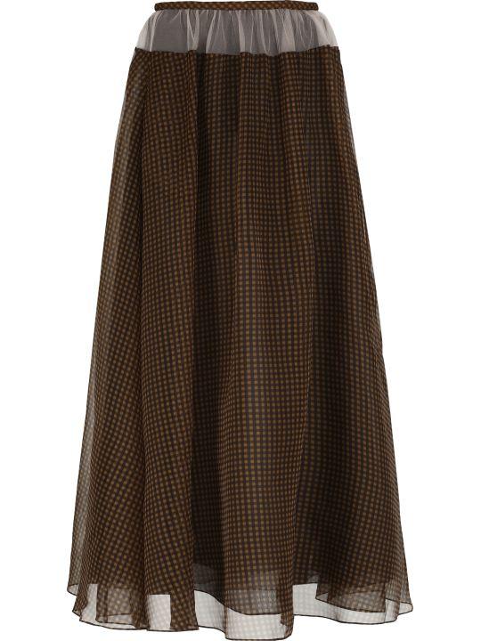 Fendi Printed Silk Skirt