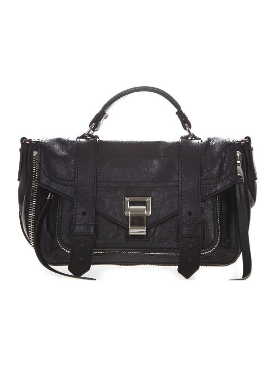 Proenza Schouler Ps1 Black Leather Satchel