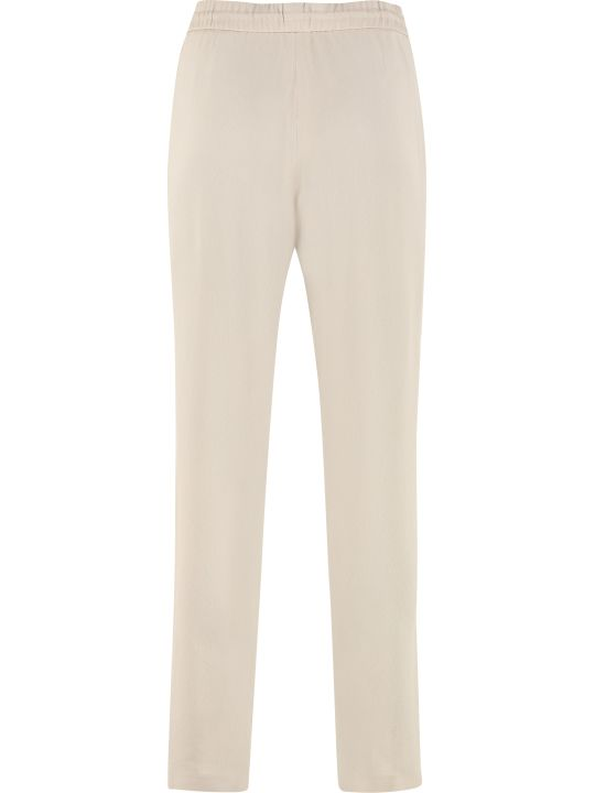Fabiana Filippi Silk-blend Trousers With Drawsting On The Waist