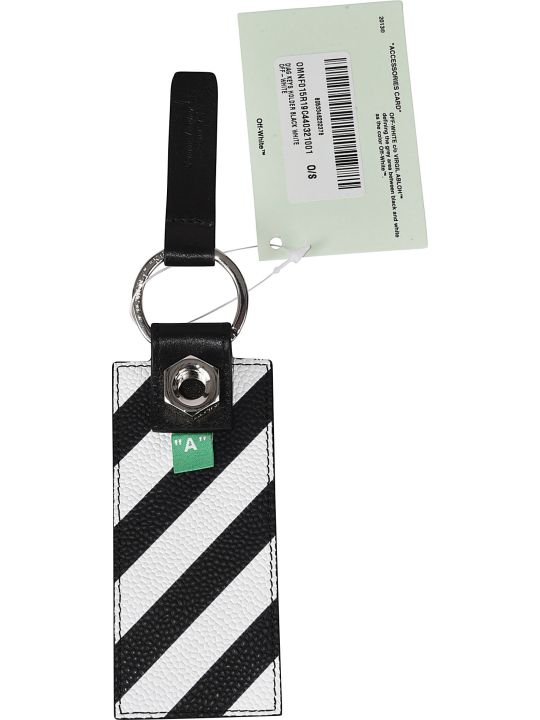 Off-White Striped Keyring